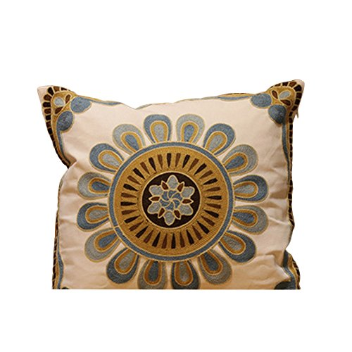 TELLW moderne style minimaliste broderie housse coussin lit adossé oreiller sofa tenir taie