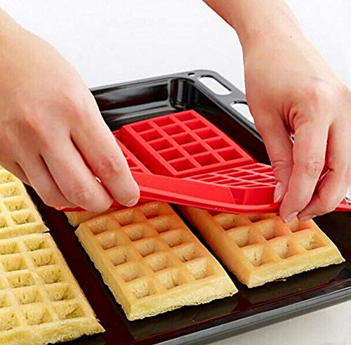 BXZ Mold,Professional Silicone Waffle Mould 4-Cavity Waffles Cake Pan High Temperature Resistant Breakfast Muffin Mould Decoration Tools