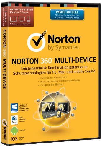 Norton 360 Multi Device 2.0 - 5 Geräte (PC, MAC, Android, iOS) [import allemand]