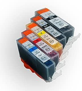 [Angelshop] Canon(キャノン) 互換インクカートリッジ BCI321+320 5色セット 残量表示機能付[フラストレーションフリーパッケージ(FFP)]