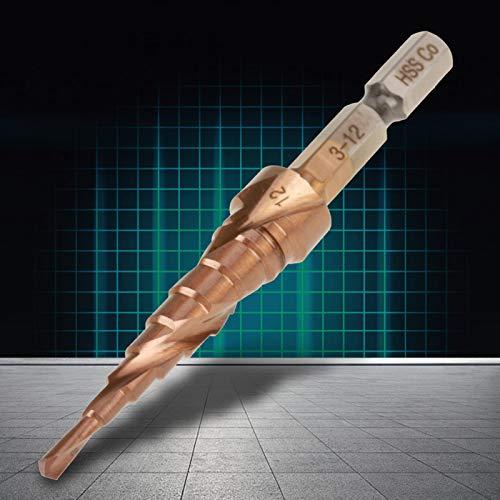 Dewalt Drill Bit Set, Hexagonal Wearproof Durable Step Countersink Drill Bit, Insulation Plate PVC Plate forAluminum Material forThin Iron Plate(3-12mm)