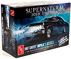 AMT 1967 Chevy Impala 4-Door Supernatural Night Hunter TV Show Model Kit Replica