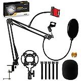 Chrider Microphone Stand Mic arm Desk Adjustable Suspension Boom...