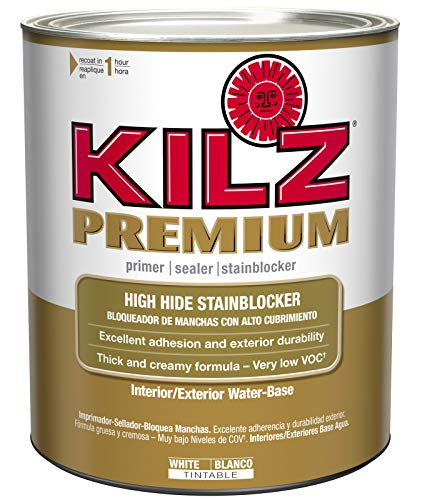 KILZ Premium High-Hide Stain Blocking Interior/Exterior Latex Primer