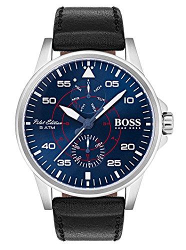 Hugo BOSS Reloj Multiesfera para Hombre de Cuarzo con Correa en Cuero 1513515