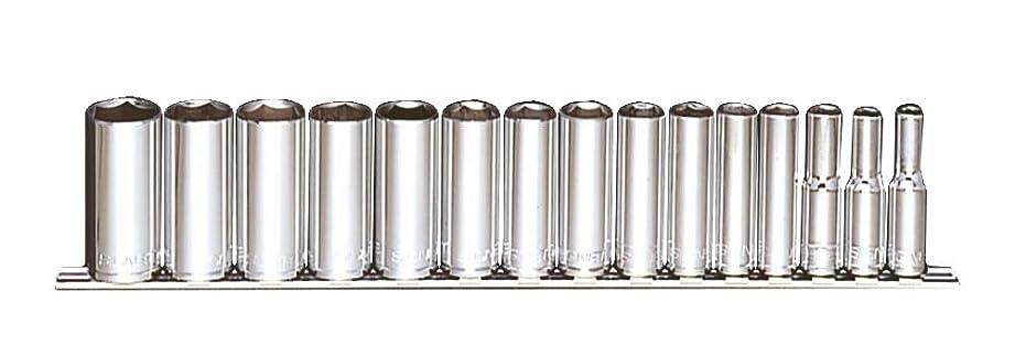 売るスリップシューズ熱望するシグネット 3/8ドライブ 15PC ディープソケットセット (12335V) 12335