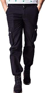 WAWAYA Men Straight Multi Pockets Basic Military Outwear Cargo Pants
