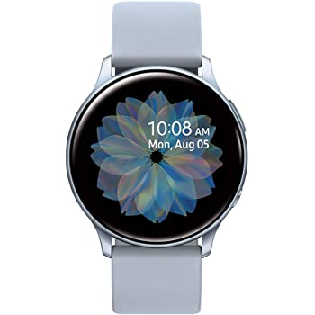 Samsung Galaxy Watch Active2 w/ enhanced sleep tracking analysis, auto workout tracking, and pace coaching (44mm), Cloud Silver - US Version with Warranty (Renewed)