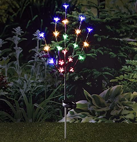 HI Arbre Fleuri LED à Piquet 20 Ampoules Eclairage Extérieur Luminaire Jardin