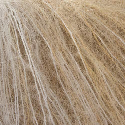 ggh Kidseda, Farbe:207 - Silber-Messing-meliert, Mohair, Seide Mischung, 25g Wolle als Knäuel, Lauflänge ca.210m, Verbrauch 125g, Nadelstärke 4-5, Stricken