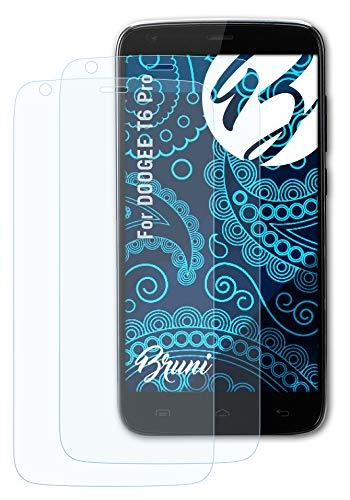 Bruni Schutzfolie kompatibel mit DOOGEE T6 Pro Folie, glasklare Bildschirmschutzfolie (2X)