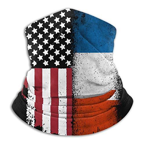Lfff Pasamontañas Francia Bandera Americana Unisex a Prueba de Viento Deportes Boca Cubierta Bufanda al Aire Libre Calentador de Cuello Bandana pasamontañas Sombreros