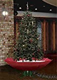 Jumbl 7' Feet Led Lighted Musical Snowing Christmas Tree with Umbrella Base and 25 Songs