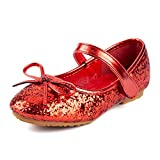 Nova Utopia Toddler Little Girls Ballet Flat Shoes,NF Utopia Girl NFGF312N3 Red 10