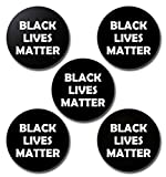 Black Lives Matter Buttons/Pins - 2.25 Inches