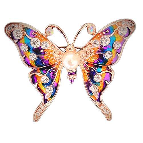 Kakoop - Broche de 50 x 33 mm, diseño de mariposa, estilo vintage, para citas de boda