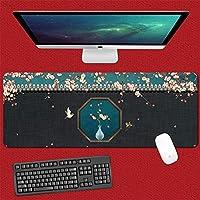 マウスパッド 風景マウスパッド延長ゲームコンピュータのキーボードパッド縫製エッジ90X40Cm大型ゲーミングマウスパッド防水ホームデスクパッドラップトップパッド-(E)_90X40Cm