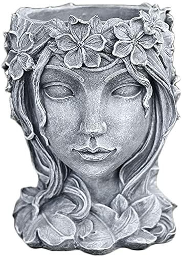 Yanmilia Head Planter Face Flower Pot Goddess Statue Planter...