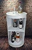 Livitat Minibar Hausbar Regaltonne Ölfass H80 cm Industrie Look Loft Vintage LV5025