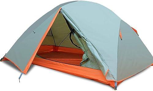YAMI Tente en Plein Air Double Double en Aluminium Tente Tente Sauvage Sauvage Rainstorm Camping Imperméable Camping 260  210  115CM
