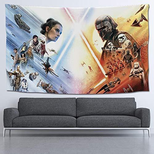 Cartel de la película de Star Wars, Tapiz de Tela Colgante, Fondo Rojo, Tapiz de Tela, Toalla de Playa, 130 * 100 CM P6G