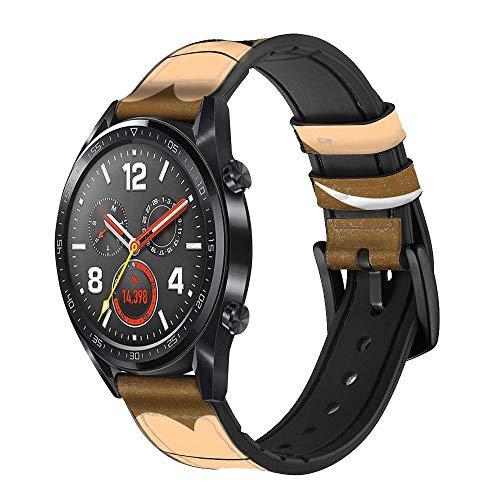 Innovedesire Cute Grumpy Monkey Cartoon Correa de Reloj Inteligente de Cuero y Silicona para Wristwatch Smartwatch Smart Watch Tamaño (20mm)