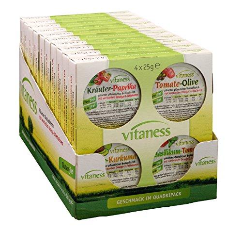 Quint Vitaness Vegetarischer Brotaufstrich 4-fach sortiert, 10er Pack (10 x 4 x 25g = 1 kg)
