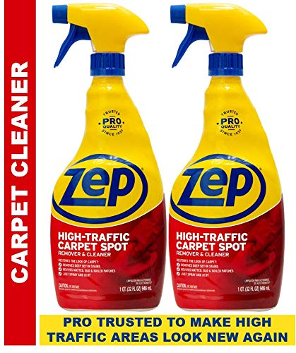 Zep High Traffic Carpet Cleaner 32 Oz. ZUHTC32 (Pack of 2) Make high traffic areas look new again