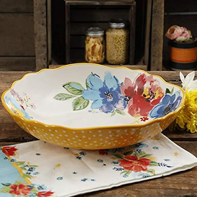 The Pioneer Woman Melody Large Pasta Serving Bowl