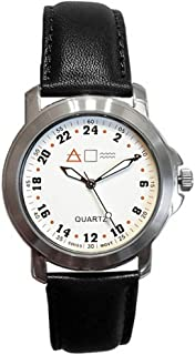 Forté Military Time Quartz Marine Army Navy Officer White Dial Mens Watch 24MWHTL3 - with Real