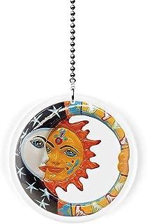 Mexican Talavera Eclipse Fan/Light Pull