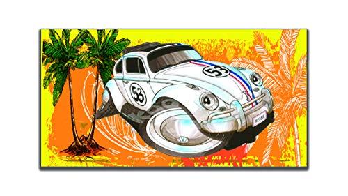 KOOLART - Toalla de Playa (algodón, 140 x 70 cm), diseño de Volkswagen VW Beetle