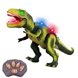 Remote Control RC Toy with LED Lights for Kids and Toddlers 3 to 12 Years Old Boys and Girls (Green T-rex)