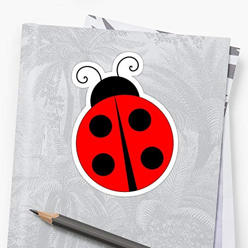 Ladybug Sticker (3 Pcs/Pack) Perfect for Water Bottle, Laptop Phone