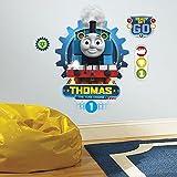 RoomMates - Adesivo da parete colorato, 1 foglio da 4 pezzi, 45,7 x 50,8 cm