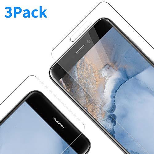 RIIMUHIR Verre Trempé pour Huawei P8 Lite 2017,Anti Rayures Film Protection écran [sans Bulles] [Dureté 9H] Transparent Film de Protection d'écran pour Huawei P8 Lite 2017 - [3 Pack]