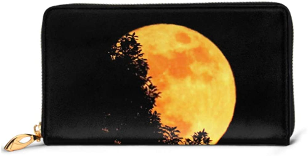 Fashion Handbag Zipper Wallet NEW All stores are sold before selling ☆ Orange Moon Behin Super Full Color