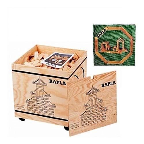 KAPLA 1000 Holzkiste mit Kunstbuch Grün (4+)