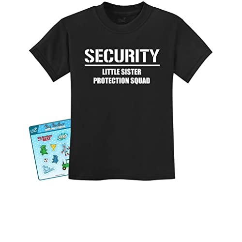 03d668dcb2 Gift for Big Brother - Security for My Little Sister Kids T-Shirt with  Stickers