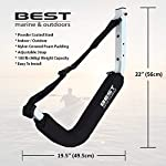 Best Marine Kayak Storage Racks. Premium Wall Mount Accessories for Kayaks and SUP Paddle Boards. Two Indoor/Outdoor… 9 HOW ARE WE DIFFERENT? - Our storage racks are made from heavy duty powder coated steel with nylon covered foam padding. They're lightweight, strong, require no assembly, are easy to install and they're affordable! WHY BEST MARINE AND OUTDOORS? - Our company goal and mission is to help people find inner peace and purpose through kayaking. When you're paddling trip is over, know that your prized possession is safe and secure waiting for your next trip on the water WHO ARE OUR STORAGE RACKS FOR? - Our wall hangers are for people looking for a simple, strong solution to protecting and storing their kayaks. Our racks can easily be installed in your garage, shed, under your deck or on your dock or pier