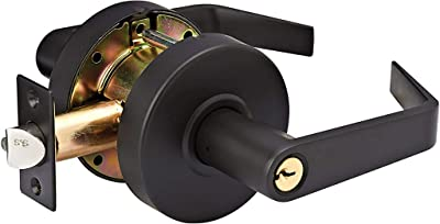 Master Lock SLCHCR10B Heavy Duty Lever Style, Grade 2 Commercial Classroom Door Lock with Bump Stop, Oil Rubbed Bronze Finish