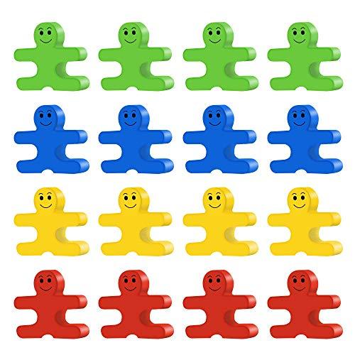 ZoneYan Juegos Apilables de Madera, Juegos de Apilamiento, Juegos de Bloques de Equilibrio, Bloques de Construcción Juego Equilibrio de Rompecabezas para Niños(16 Piezas )