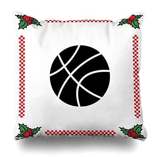 Funda de almohada de deporte de baloncesto americano, diseño de equipo de competencia, funda de almohada con cremallera, tamaño cuadrado de 45,7 x 45,7 cm, decoración del hogar