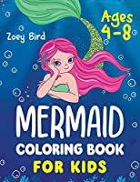 Mermaid Coloring Book for Kids: Coloring Activity for Ages 4 - 8