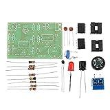 Módulo electrónico Formación Experimental Estudiante placa de circuito de alarma de temperatura Kit de producción electrónica DIY Equipo electrónico de alta precisión