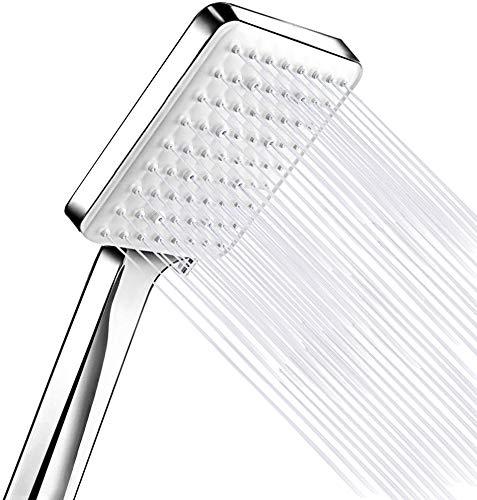 Soffione doccia ad alta pressione 6 modalità di getto con pulsante Easy Click, potente soffione doccia di ricambio regolabile universale, soffioni doccia ad alta pressione cromati