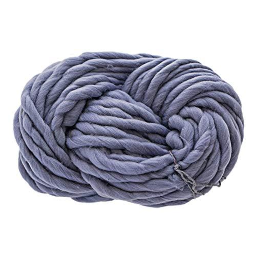 盛世汇众 Soft Wool Yarn Scarf Knit Thickness Warm Hat Household Supplies Knitting Yarn Chunky Colorful Wool Scarves Shawls (color : Gray)