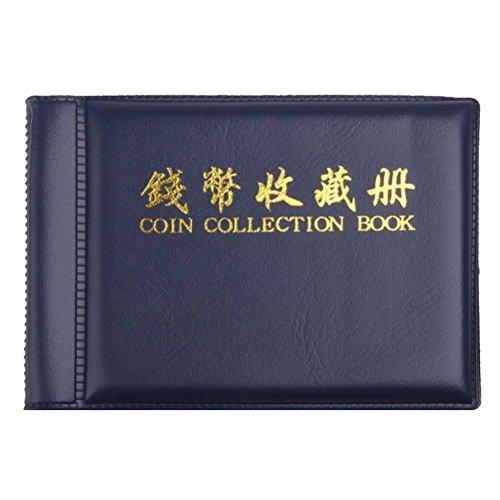 Pixnor, album per collezionisti di monete a 60 tasche, colore: blu scuro