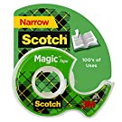 Scotch Magic Tape, 1 Roll, Numerous Applications, Invisible, Engineered for Repairing, 1/2 x 450 Inches, Dispensered (104)