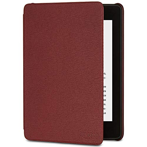 Funda Amazon de cuero para Kindle Paperwhite (10.ª generación - modelo de 2018), Burdeos